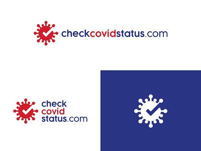 CheckCovidStatus typography illustration vector logodesign logo design