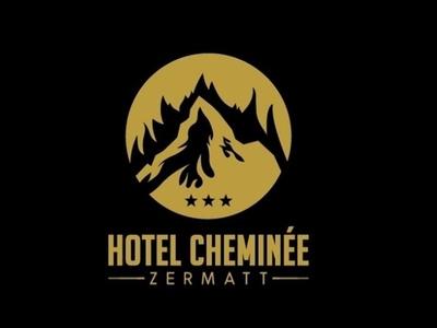 Hotel Cheminee illustration design logo