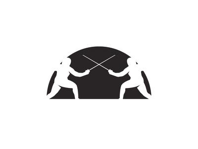 Fencing fencing logodesign academy vector illustration design logo