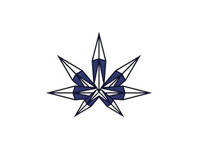 Cyristal Weed Logo logodesign illustration vector design weed logo