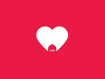 Love logodesign illustration vector logo design