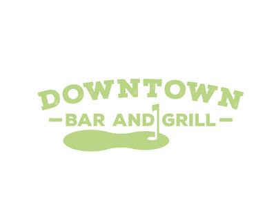 Downtown Bar And Grill Logo typography branding logodesign design illustration vector logo