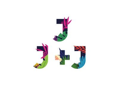 J J+J Logo academy typography logodesign illustration vector logo design