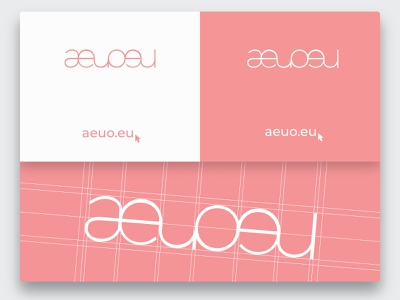 Logo Design | aeuoeu ecommerce font pink logo illustrator clothing company clothing design vector logo design clothing brand