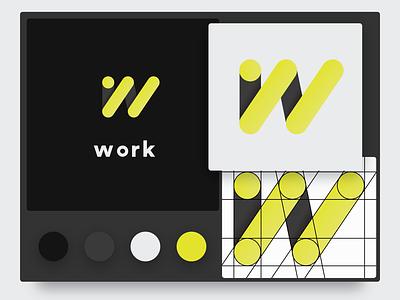Logo Design - Work agency branding unemployment agency work agency colour logo design concept logo design work labour