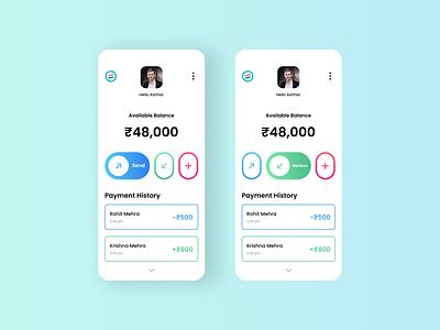 Bharat Pay Mobile App bharatpe upi payment ui ux minimal design