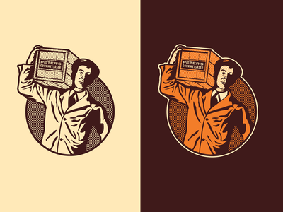 Gourmet Sauce Delivery Man Illustration