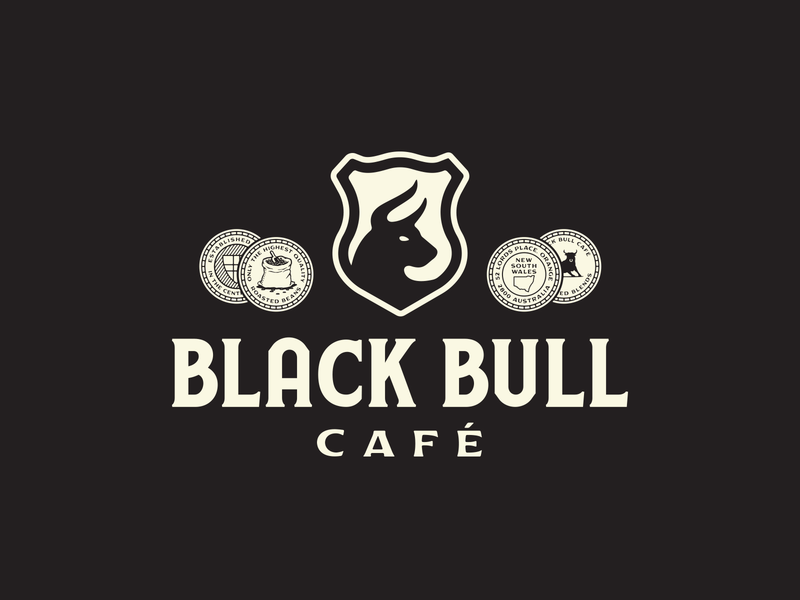 Black Bull Café forefathers group growcase crest coins coffee black bull café