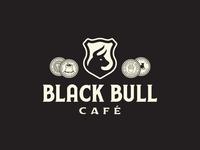 Black Bull Café forefathers group growcase crest coins coffee black bull café