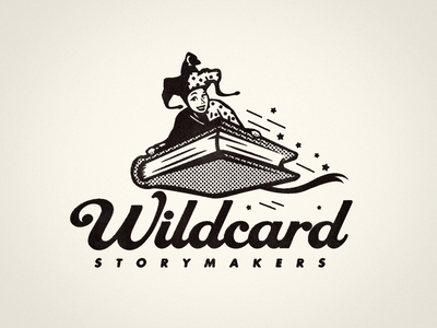 Wildcard Storymakers - Final Logo children storymakers storytelling jester logotype growcase logo logo design identity branding wildcard whimsical