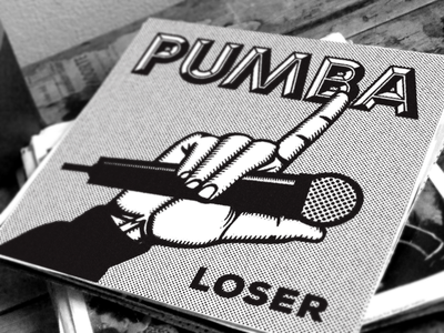 "Pumba - ""Loser"" (Cover Art) growcase cover art album cover tee productions tee prod tommy tee pumba loser mic microphone"