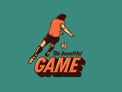 The Beautiful Game Logo growcase logo logo design identity branding football soccer decals wall decals sports highway