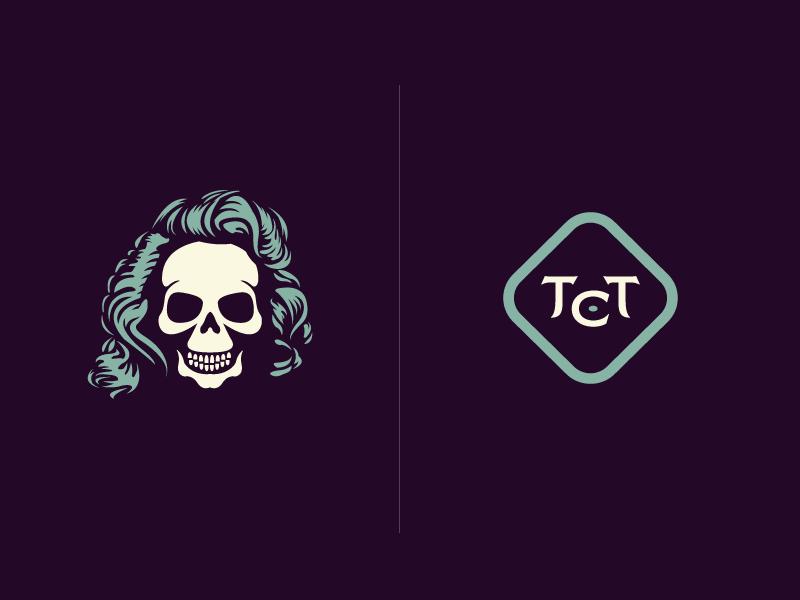 TT Clothing Co. - Branding Elements growcase clothing logo logo design skull skeleton marilyn monroe branding ttc tt clothing co.