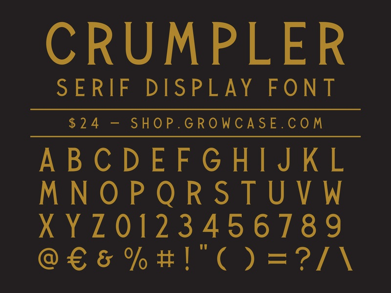 CRUMPLER - Serif Display Font vintage packaging graphic design victorian serif type display fonts font crumpler typeface growcase