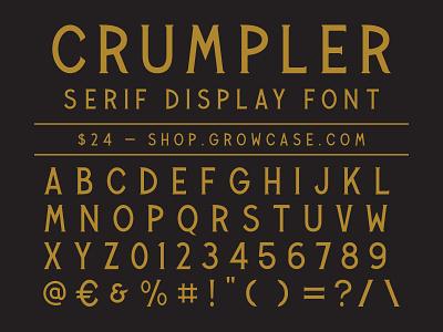 CRUMPLER - Serif Display Font vintage packaging graphic design victorian serif type display fonts font crumpler typeface growcase