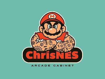 Mario Ripped & Inked. nintendo arcade game super mario nes mario bros tattoo tattoos inked ripped growcase video game