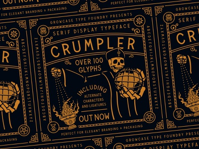 Crumpler - Serif Display Typeface logotype otf packaging branding growcase type foundry crumpler serif display typeface fonts font