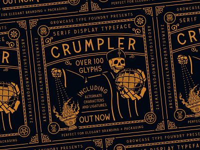 Crumpler - Serif Display Typeface logotype otf packaging branding growcase type foundry crumpler serif display typeface fonts font