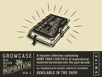 Growcase Big Book of Inspiration - Vol. 1 inspirational packaging labels branding badges crest victorian postage stamp stamps shop designer resource resources bundle retro vintage inspiration growcase