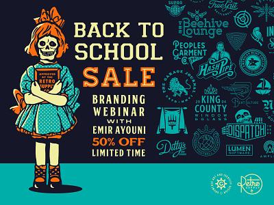Branding Webinar 50% OFF Back to School Campaign logomark illustration logo designer identity brand identity logotype branding logo design logo growcase