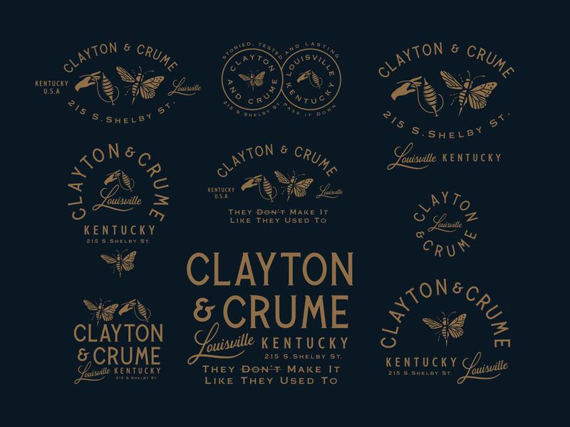 Clayton & Crume crumpler leatherworker leatherworking forefathers illustration logo designer identity brand identity logotype branding logo design logo growcase