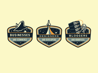 Rockettt Badges rocket space shuttle astronaut web hosting growcase badge space badges nasa rockettt patch