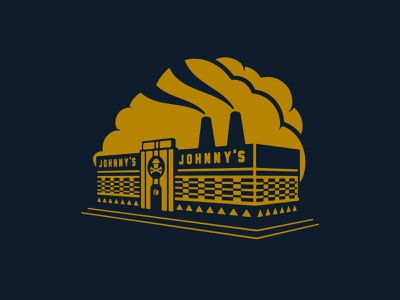 Johnny Cupcakes - Diner (Element) perspective vector brand identity logotype custom type typography logo design designer tshirt diner skull merch merchandise johnnycupcakes johnny cupcakes growcase