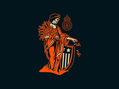 Growcase - Free Shipping logo brand branding designer crest christmas usa united states of america skull merch free shipping growcase