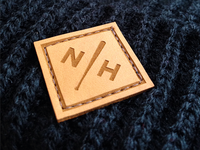 Northern Hooligans laser etched leather patch