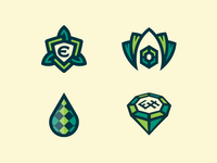 Logomark concepts for Emerald Harvest