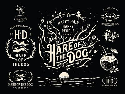 Hare of the Dog - Rebranding hair stylist hairstylist beauty hare of the dog hair salon typography illustration brand identity logotype branding logo design logo growcase