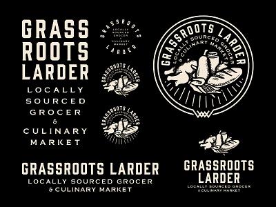 Grassroots Larder - Branding System tulsa oklahoma grassroots larder forefathers group typography logo designer brand identity logotype branding logo design logo growcase
