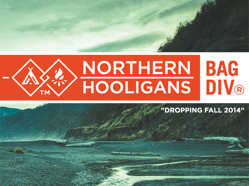 Northern Hooligans Bag Division - Full Project growcase logo logo design sub branding northern hooligans bag division hiking carriers bags