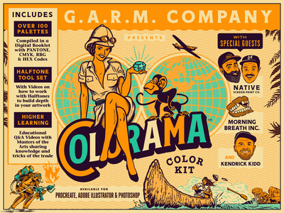 Colorama Color Kit halftones halftone procreate adobe photoshop illustrator g.a.r.m. co. garm company colorama coloring kit color kit color growcase