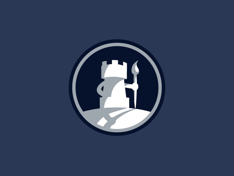 rook chess piece mark by emir ayouni dribbble