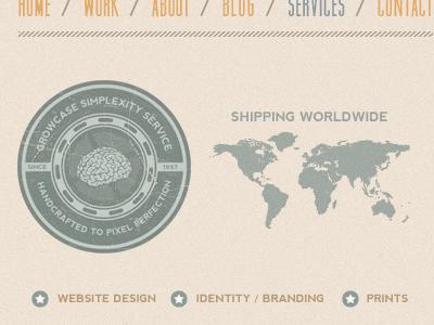Growcase Services Layout portfolio growcase re-design layout menu services badge emblem teaser muncie nevis