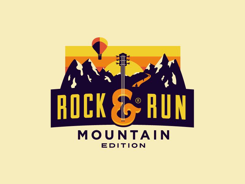 Rock & Run - Mountain Edition growcase logo logo design branding mountain range run marathon summit rock  run crossangels