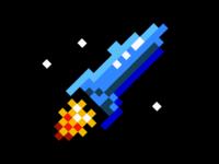8-bit Spaceship logo
