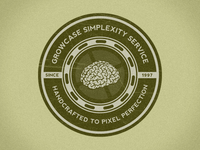 Growcase Simplexity Service Badge