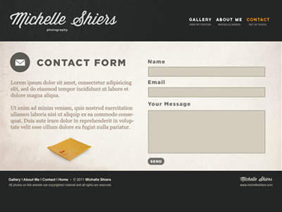 Photographer Website Contact Form WIP by Emir Ayouni - Dribbble