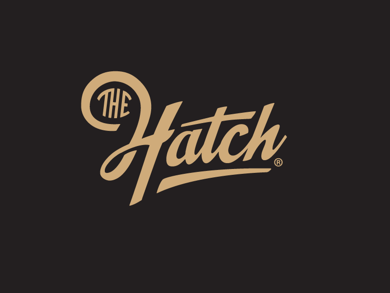 The Hatch logotype script handlettering custom type typography fusion food gothenburg foodtruck the hatch brand identity logotype logo growcase