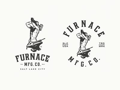 Furnace MFG Co. - Slugger concept draft salt lake city blacksmith slugger furnace mfg co brand identity logotype logo growcase