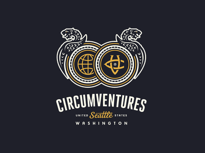 Circumventures brand identity lock-up victorian dragons it consultant agency seattle washington circumventures dragon monogram brand identity logotype logo growcase