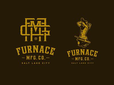 Furnace MFG Co. - Final Brand Identity salt lake city blacksmith slugger furnace mfg co brand identity logotype logo growcase
