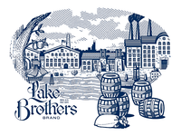 Lake Brothers Beer Co. illustration piece.