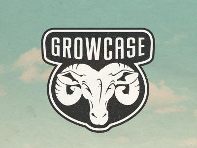 Growcase Rebranding Idea growcase logo wip rebranding re-branding ram rams head ram head horns animal shape shield logo design logo designer