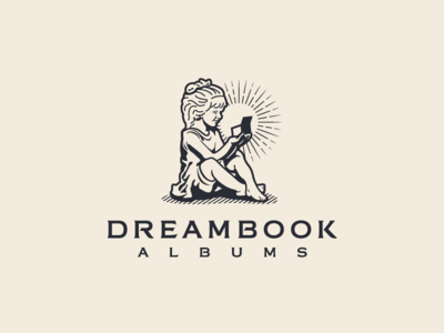 Dreambook Albums - Branding rustic wedding photography dreambook albums brand identity logotype logo forefathers group growcase