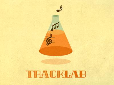 Tracklab Logo Exploration flask growcase logo music tracklab science notes caramanna logo design logotype logo designer