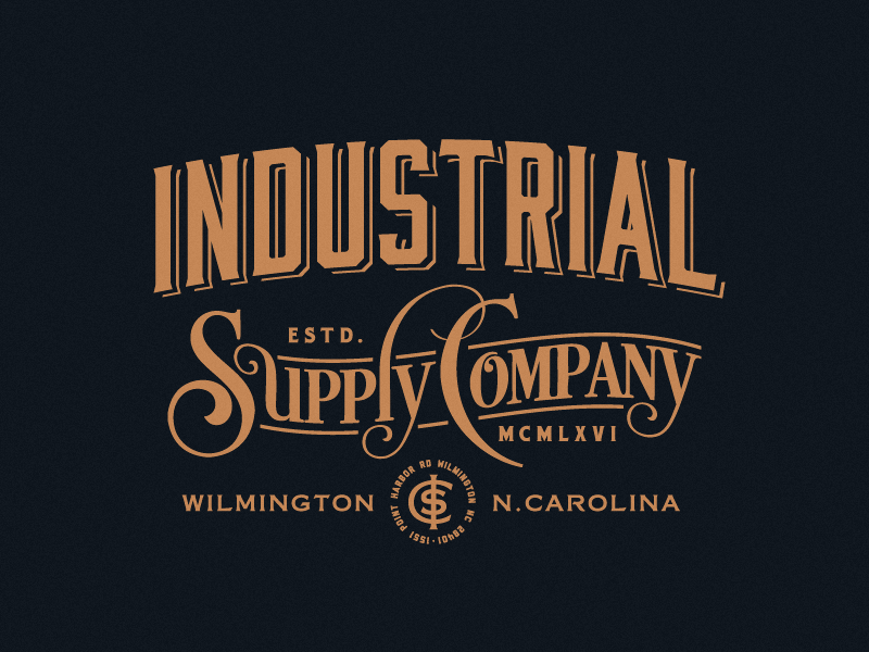 Industrial Supply Company victorian era monogram industrial supply company typography logomark logo forefathers growcase