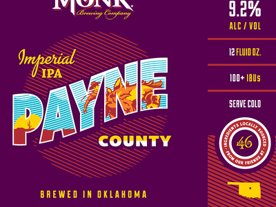 Iron Monk Brewing Company - Payne County Imperial IPA oklahoma cowboy imperial ipa iron monk brewing company can beer brewery forefathers growcase